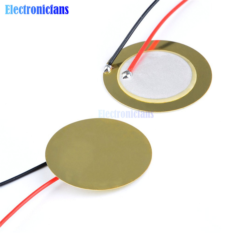 10 Pcs Piezoelectric Piezo Ceramic Wafer Plate Dia 27mm For Buzzer Loudspeaker