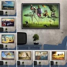 Фотокартина на холсте в стиле ретро с изображением суперреализма и квадратов для гостиной, украшения для дома