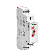цена на Multifunction Time Relay 16A Din Rail Type 10 Function Adjustable Timer Relays 12V-240V AC DC