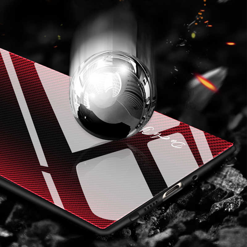 Błyszczący tekstury szkło hartowane etui na telefon Samsung Galaxy S10 5G Plus S10e uwaga 8 9 10 Pro A10 a20 A30 A50 70 Pokrywa ochronna