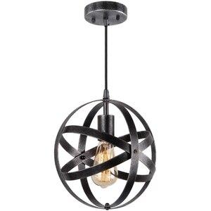 Скандинавский антикварный креативный черный круглый люстра в форме земли ретро Американский промышленный бар люстра