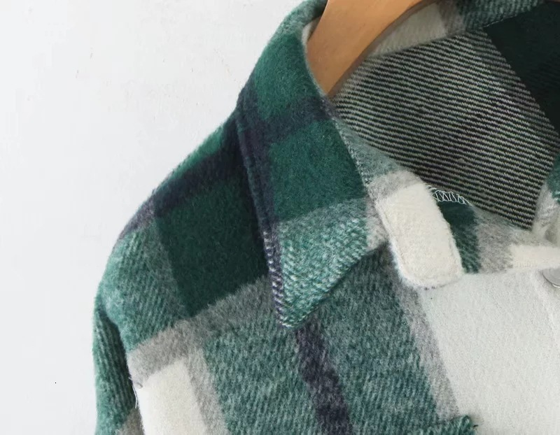 H8d2ba22b0aaf417089b00b18016427ad2 2019 Autumn Winter Plaid Oversize Jackets Loose Causal Checker Streetwear Coat