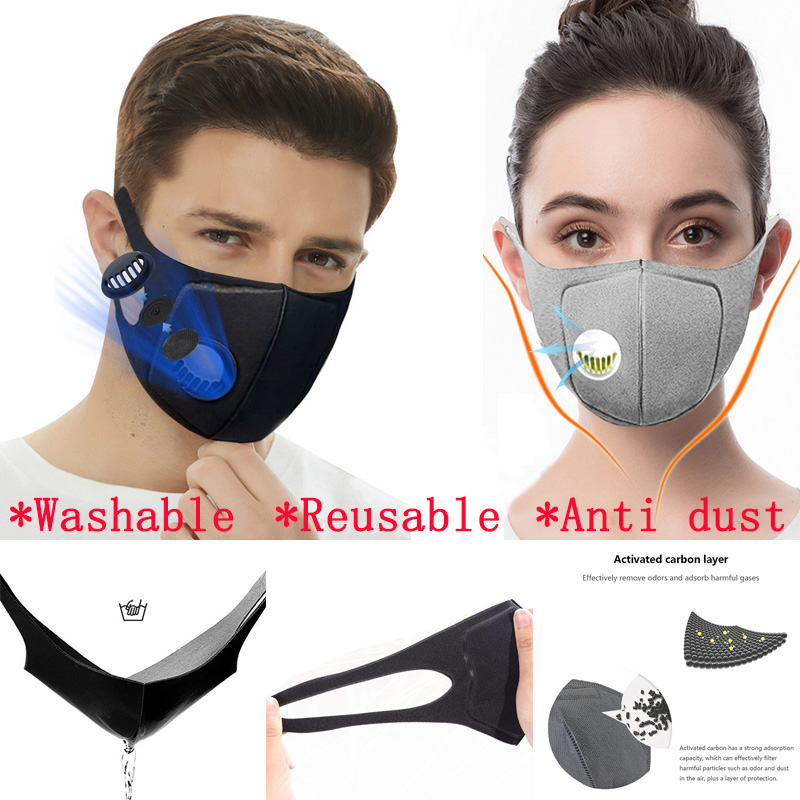 10Pcs Anti Dust Protective Sponge Mask PM2.5 Anti Pollution Reusable Mask Washable Mouth-muffle Respirator