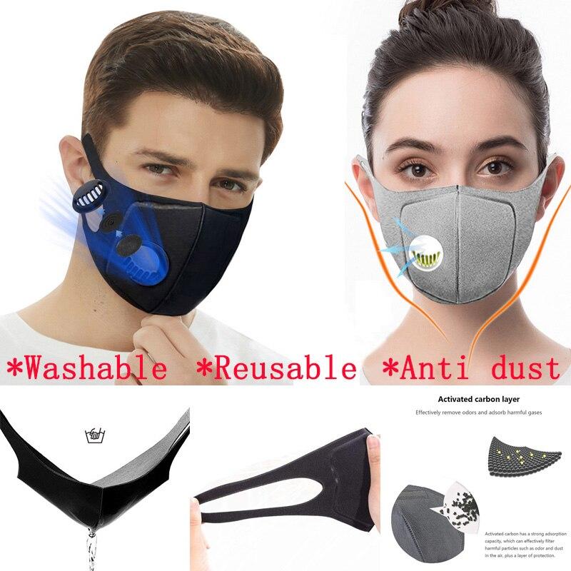 10Pcs Anti Dust Protective Sponge Mask PM2.5 Anti Pollution Reusable Mask Washable Mouth-muffle Respirator