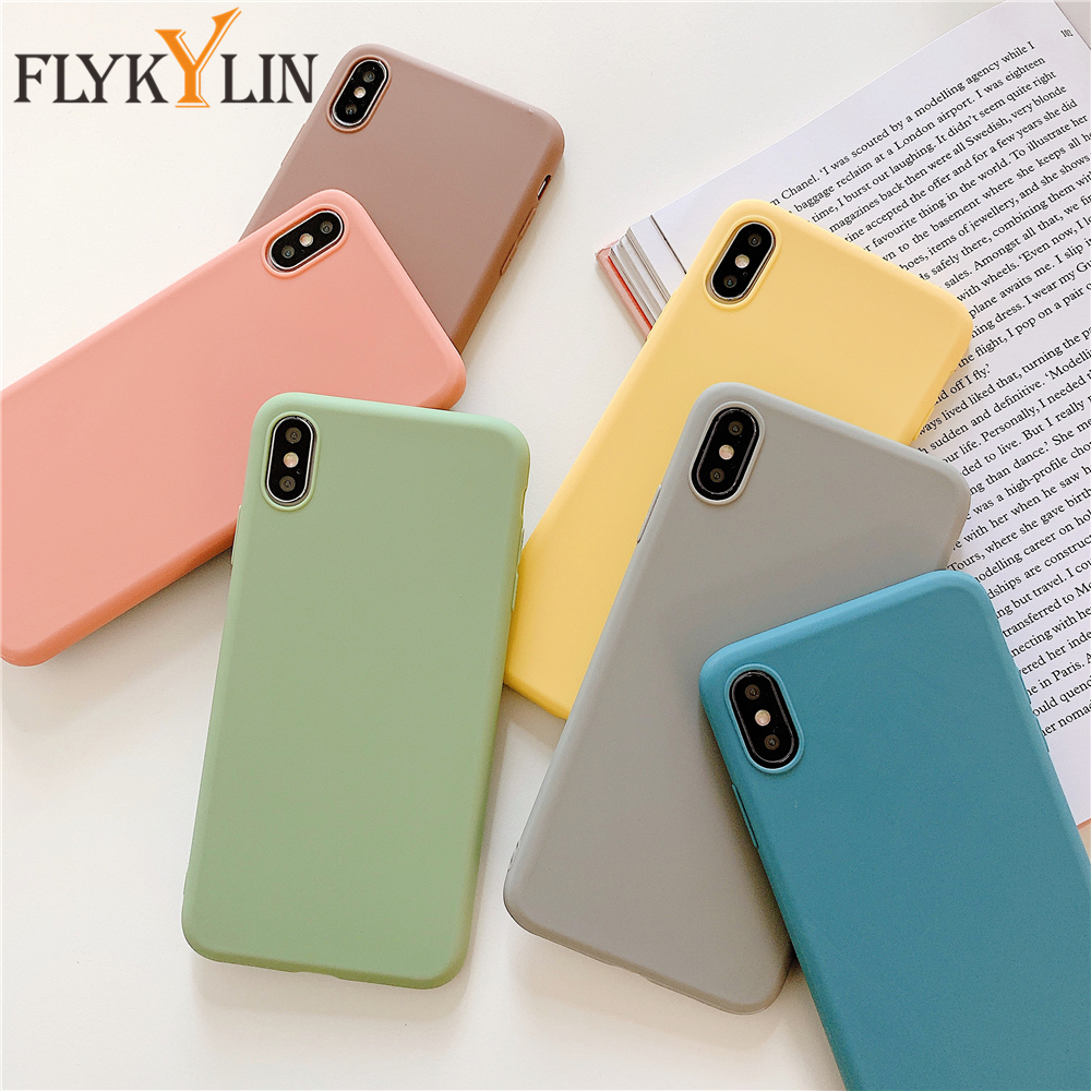 Silicone Case for iPhone 12 11 Pro Max Mini Case Slim Soft TPU Back Cover For iPhone 6 7 8 Plus X XS Max XR Case cover Bag Shell