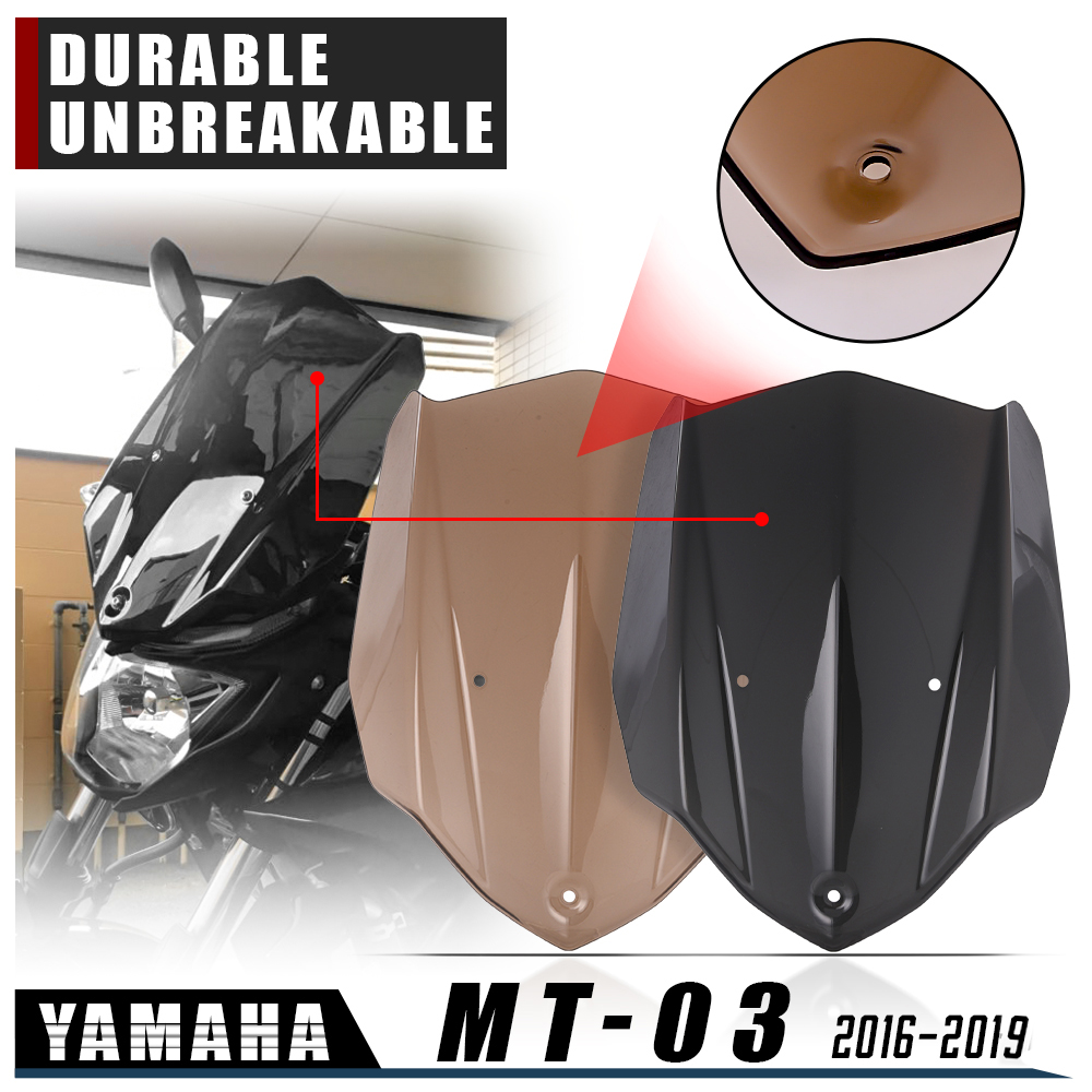 Double Bubble Windshield For Yamaha MT 03 MT-03 MT03 2016 2017 2018 2019 Windscreen Screen Wind Deflectors 16-19 Accessories