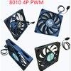 For Ultra Thin Mute Copper Core Intel MD22AL MD25 MD28 MD32 4P 3P Mini H110 Main Board All-in-one 1U I3 i5 115x Fan CPU Radiator