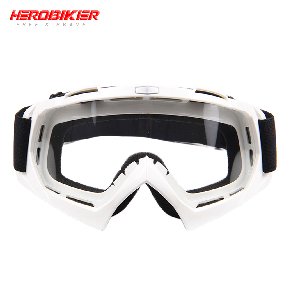 HEROBIKE Motorcycle Off-Road Racing Goggles Winter Skate Sled ATV Eyewear Motocross DH MTB Glasses Single Lens Clears