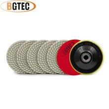 Bgtec 4 дюйма 6 шт #400 Профессиональные Алмазные Гибкие Полировальные