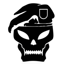 Car Sticker Funny Beret Soldier Skull Auto Windscreen Automobiles Motorcycles Exterior Accessories Vinyl Decal 18cm*15cm cheap The Whole Body Glue Sticker 0 01cm Stickers cartoon Creative Stickers Not Packaged