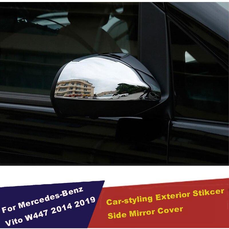 ABS chrome Door Mirror Cover Rear View Overlay 2014-2018 for Mercedes Benz Vito Valente Metris W447 Car Accessories