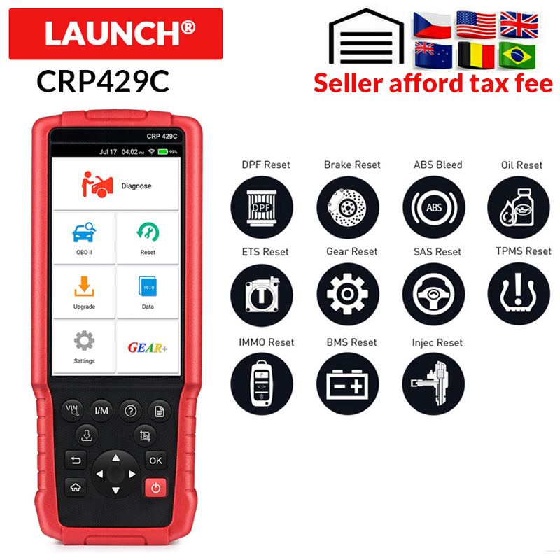 LAUNCH X431 CRP429C Auto OBD2 Diagnostic Tool Support Engine/ABS/Airbag/AT And 11 Service CRP429 C CAR Code Reader PK CRP479