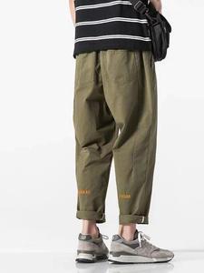 Trousers Harem-Pants Men Streetwear Baggy Joggers Ankle-Length Black Plus-Size Mens 5XL