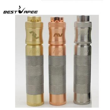 RDA AV Mechanical mod Kit brass Material 510 Thread fit 18650 Battery with RDA atomizer Mech mod vape pen VS Tower Mods RTA RTDA