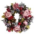 35 см дверь венок большая гирлянда искусственный цветок Пион цветочный венок на стене спереди венки дверные украшения дома Декор