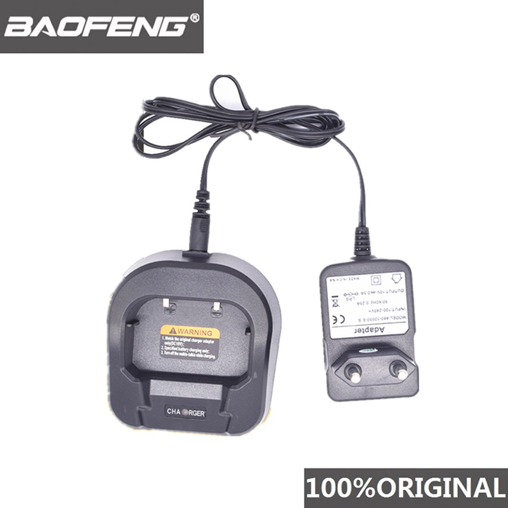 100% Genuine Baofeng UV-82/UV-8D Walkie Talkie Adapter Desktop Charger Portable Two Way Radio With EU UK US Adapter Accessories