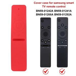 Image 3 - Étui de protection à distance en Silicone pour Samsung QLED Smart TV couverture de protection complète télécommande intelligente BN59 01265A TV pour Samsung