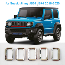 Car Front Grill Cover for Suzuki Jimny JB64 JB74 2018-2020 Styling Mouldings Car Front Grill Grille Decoration Cover