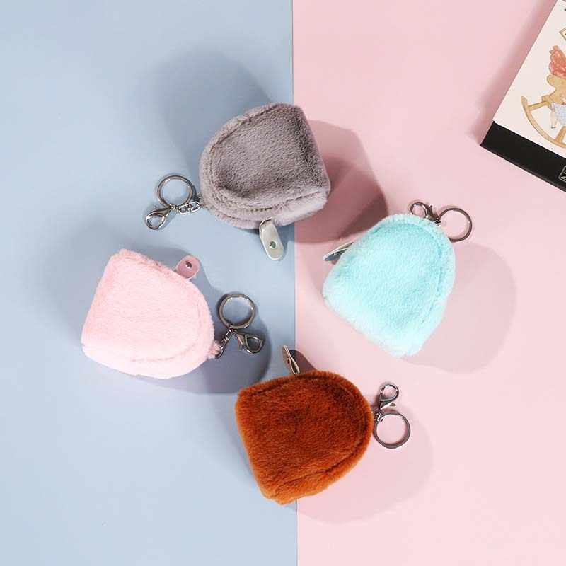 Kids coin Purses Zip Change Kawaii Wallet plush earphone key Coin Purse Pocket Children Plush Girl Coin Pouch