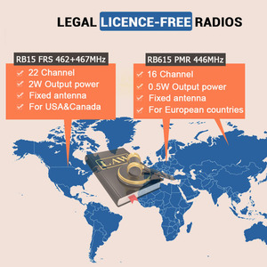 Image 4 - Vibration Reminder Retevis RB615 Mini PMR Walkie Talkie 2pcs PMR446 PMR Radio FRS VOX Handsfree Two way Radio Wireless Cloning
