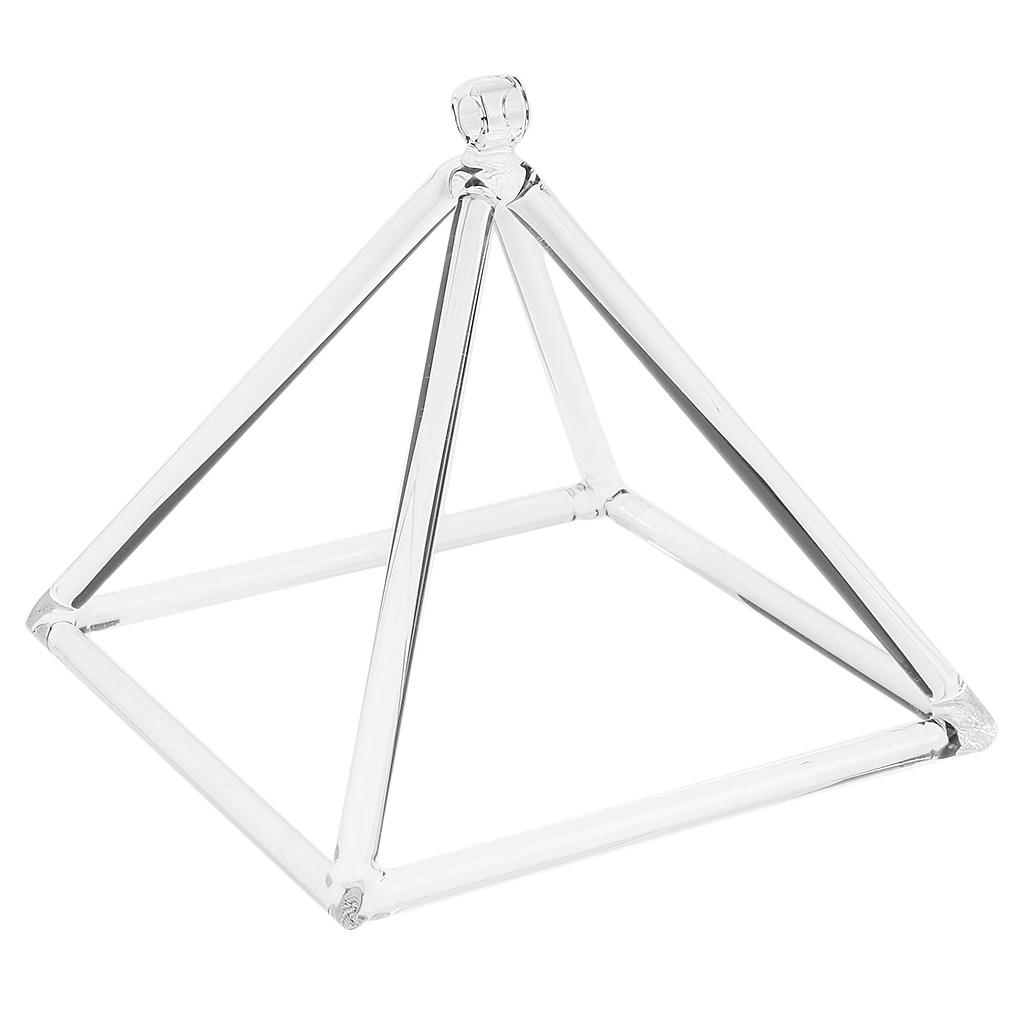 Quartz Crystal Singing Pyramid B Note Crown  For Sound Meditation 9