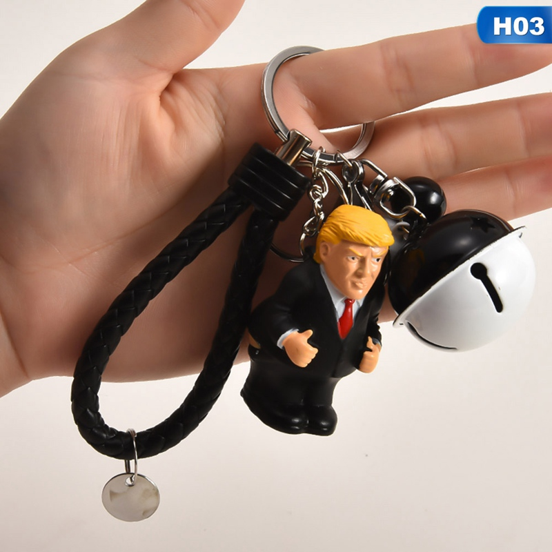 Funny President Donald Trump Pooping Squeezable Toy Keychain Gag Joke Gifts 1Pc