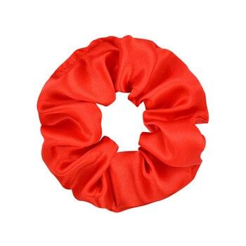 3.9 inch Women Silk Scrunchie Elastic Handmade Multicolor  Hair Band Ponytail Holder Headband Hair Accessories 10