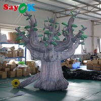 New Design Printed Giant Inflatable Tree Model Advertising Inflatable Plant Shape for Decoration