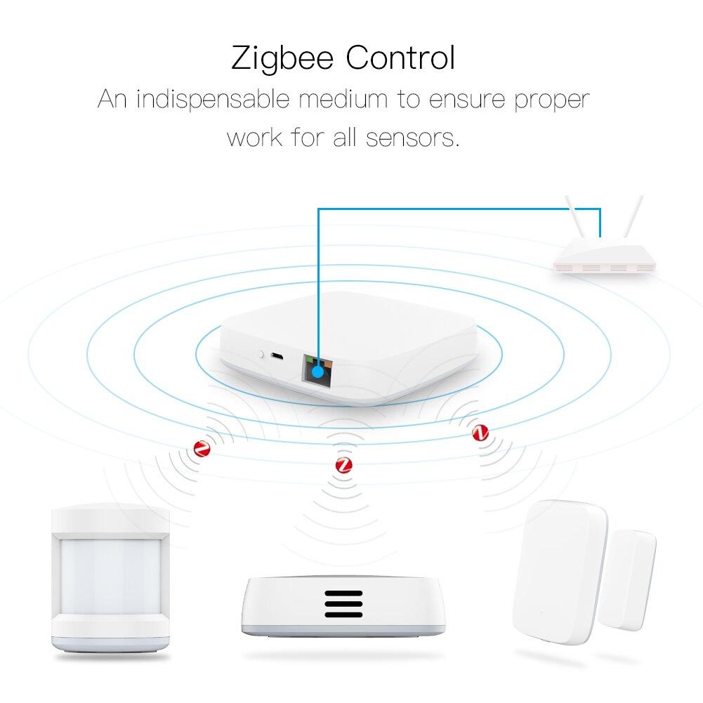 Tuya Smart Zigbee Gateway Hub hogar automatización escena seguridad alarma Kit PIR puerta y ventana temperatura y Sensor de humedad inteligente la vida GLEDOPTO ZigBee 3,0 RGB + CCT LED controlador de Gaza más DC12-24V trabajar con zigbee3.0 pasarela de smartThings eco plus control de voz