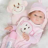 NPK DOLL bebe reborn dolls 20 50cm soft full silicone reborn baby girl dolls toys for children gift