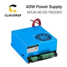 Источник питания 40Вт для CO2 лазера, MYJG 40Вт 110B/ 220В от Cloudray для лазерной трубки, гравировального, металлорежущего станка