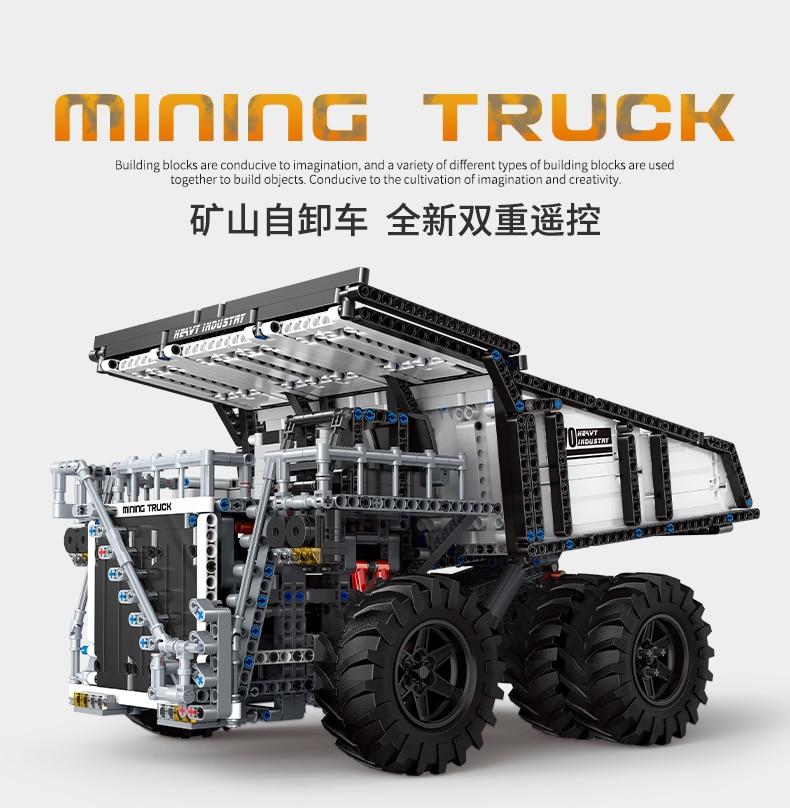 MOULD KING 13170 Compatible 29699 Technic Liebher Terex T284 Mining Excavator Dump Building Block (2044PCS) 7
