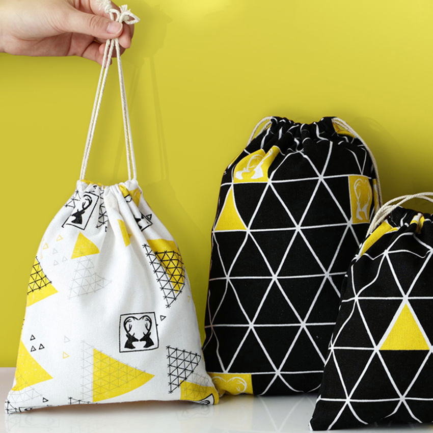 Organizer Shoes Pouch-Bag Drawstring-Storage Dust-Proof Travel Polyester Breathable Cotton