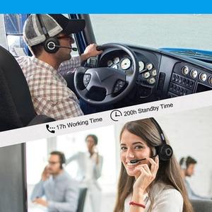 Image 5 - Conférence vidéo sans fil antibruit avec Microphone de Base de charge casque Bluetooth pilote de camion mains libres daviation Mono