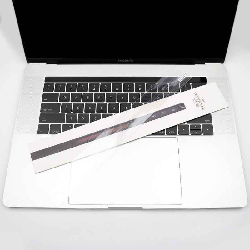 Etiqueta clara da pele do protetor do filme da barra de toque para macbook pro 13/15 a1706 a1707