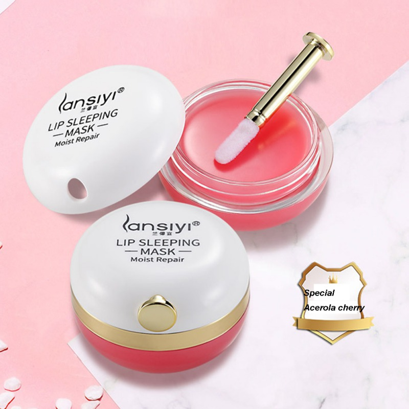 Lip Sleeping Mask Night Sleep Maintenance Moistened Lip Balm The Pink Lips Bleaching Cream Nourish Protect Lips Care Cream 15g