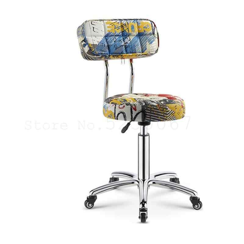 Beauty kruk kapsel werk stoel pakket roterende lift kapper schoonheidssalon speciale haar salon nail kruk tattoo