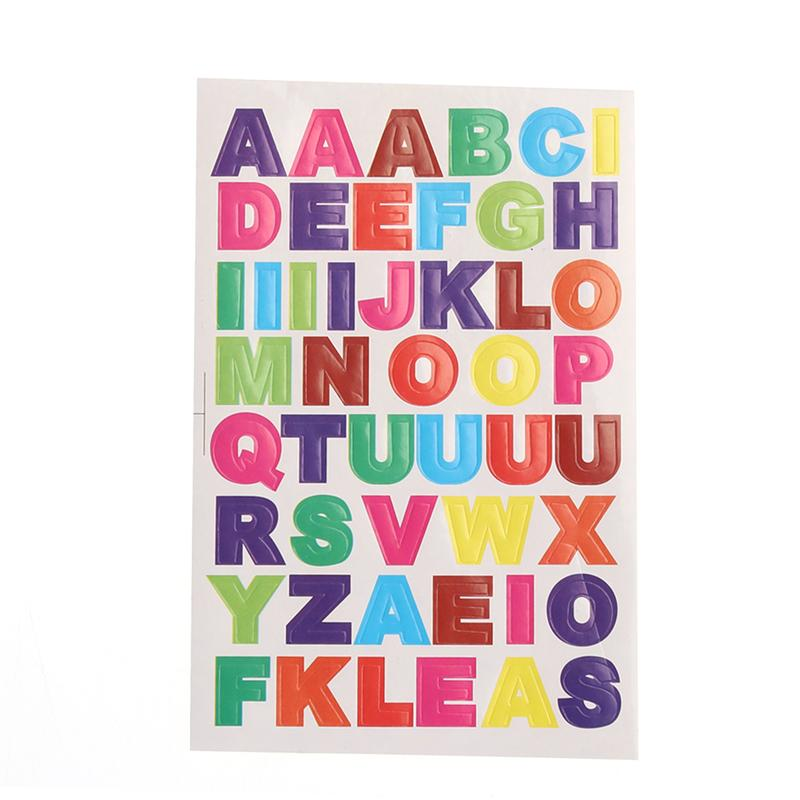 10 листов красочные буквы наклейки алфавит наклейки дит карты сток наклейки от А до Я