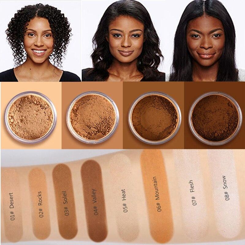 Makeup Loose Setting Powder Matte Mineral Oil-control Long-lasting Face Concealer Finishing Bronzer Contour For Black Dark Skin