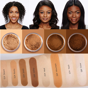 Makeup Loose Setting Powder Matte Mineral Oil-control Long-lasting Face Concealer Finishing Bronzer Contour For Black Dark Skin(China)
