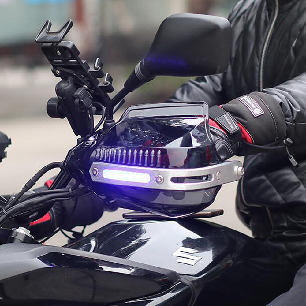 LED Motocross Handguard Motorcycle Hand Guards Handbar For <font><b>yamaha</b></font> vmax 1200 mt 09 mt07 <font><b>fazer</b></font> <font><b>600</b></font> r6 2008 r6 <font><b>2000</b></font> fz8 thundercat image