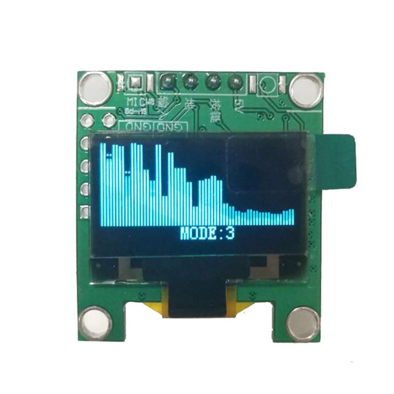 Мини 0,96 дюймовый OLED музыкальный анализатор спектра MP3 PC усилитель аудио индикатор уровня музыкальный ритм анализатор VU метр