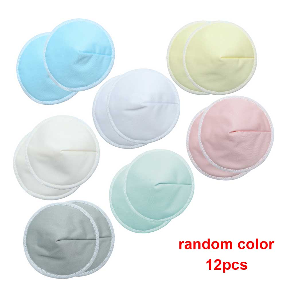 12 PCs Solid Mommy Anti Spill Nursing Pads Reusable Breast Feeding Inserts Water Absorbed Organic Bamboo Soft Home Breathable