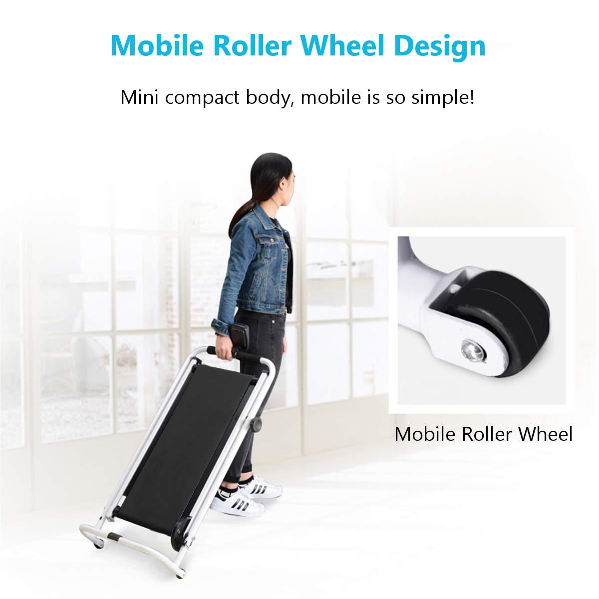 Tapis roulant pliable électrique LED affichage jogging espace marche Machine aérobie Sport Fitness équipement pas d'espace de plancher facile à déplacer - 6