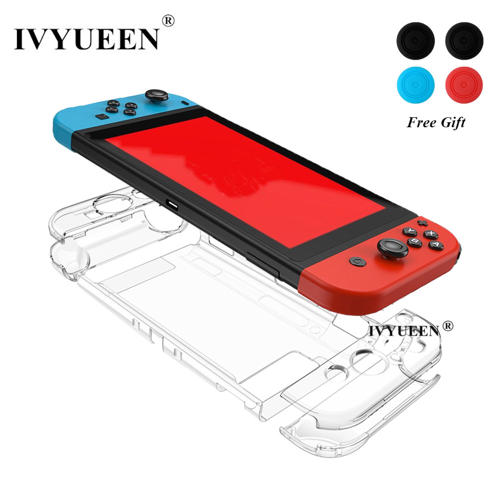 IVYUEEN Dockable Cover Case For Nintend Switch NS Console Protective Hard Crystal Case Shell For NintendoSwitch Game Accessories