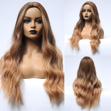 Синтетические длинные натуральные волнистые волосы element с