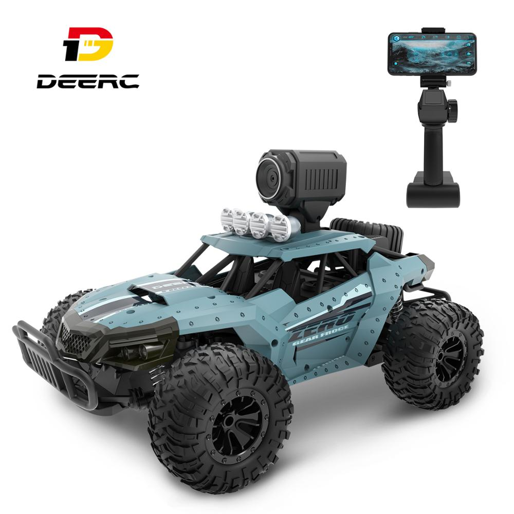 DEERC DE36W RC Car Drift Racing Truck Toy 720P Camera Wifi FPV 1:16 Big Remote Control Trucks Car Toy For Boy 20KM//H Machine