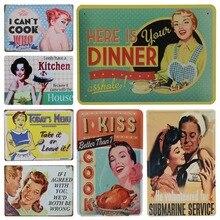 American Retro pines para carteles Up Girl Tin Signs decoración placa Vintage Metal pintura pared café Club Bar cocina hogar Decoración