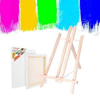 2PCS Wood Frame Easel For Artist Easel Painting Craft Exhibition Wooden Display Shelf Holder Studio Painting Stand Art Supplies metal easel for artist painting sketch weeding easel stand drawing table box oil paint laptop accessories painting art supplies
