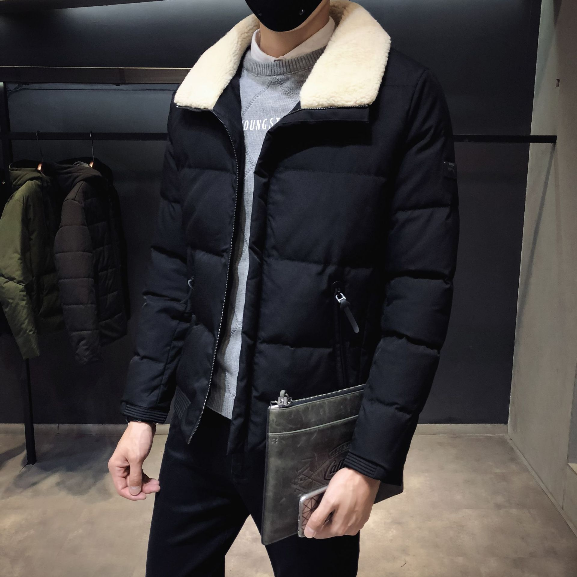 8XL Coat 2019 Winter Cotton-padded Clothes Korean-style Trend Cotton Coat Large Size Fat Handsome Short Thick Cotton-padded Jack